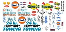 Don's 24hr Heavy Duty Towing Wrecker 1/64th HO Scale Slot Car Decals