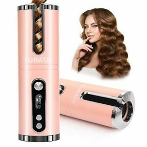 Cordless Wireless Auto Rotating Hair Curler Straightener Curling Device *UK POST