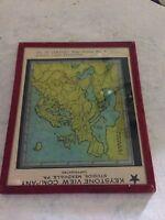 Vintage Keystone Veiw Company Glass Magic Lantern Slide #13 Map series Europe