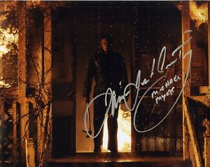 Halloween horror movie large photo signed by James Jude Courtney