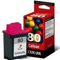 GENUINE ORIGINAL LEXMARK 80 COLOUR PRINT CARTRIDGE FOR 3200 NEW SEALED