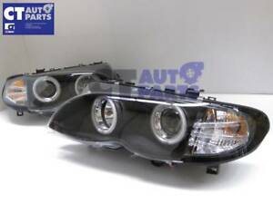 Black CCFL Angeleyes Projector HeadLights for 02-05 BMW 3-SERIES E46 4D 318i 320