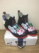 BNWT Joules Wellibobs Size 8 EU 42 Navy Floral Women's Boxed
