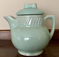 Old Rare Vintage Salada Teapot Pitcher Mint Green- Made USA -McCoy Pottery