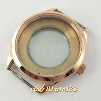 42mm Sapphire Rose Gold Watch Case Fit ETA 2836,Miyota 8215/821A,Mingzhu/DG 2813