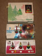 Vintage BUBBLE LIGHTS LITE SET NOMA SEARS TRIM SHOP w/ Boxes Lot Of 3 Christmas