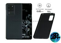 Real Aramid Carbon Fiber Genuine Case Cover Samsung Galaxy S20 5G Matte Black