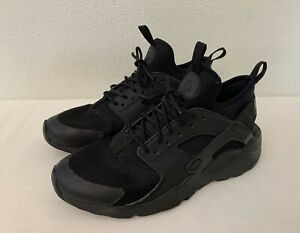 Nike Air Huarache Run Ultra All Black Synthetic Laced Trainers-UK 6 EU 39 Youth