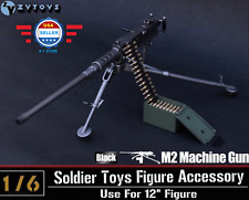 """ZY TOYS 1/6 SCALE U.S. Army Browning M2 Machine Gun for 12"""" Figure in Black"""