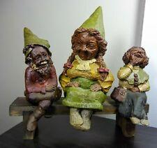 Meg Padre Madre Tom Clark Gnomes 80's Sitting Figures & Bench Retired