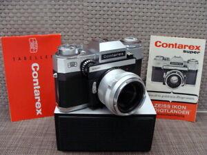 """Zeiss Ikon - Contarex Super SLR Tessar 1:2.8/50mm """"1a Sammlerstück"""" - TOP!"""