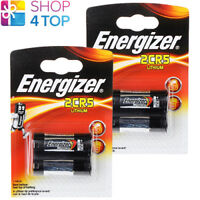 2 ENERGIZER 2CR5 LITHIUM BATTERIES 6V DL245 PHOTO CAMERA EXP 2027 NEW