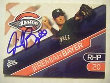 JEREMIAH BAYER signed RED SOX 2010 GREENVILLE DRIVE baseball card AUTO TRINITY