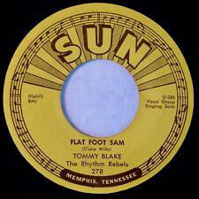 SUN 278 Tommy Blake Orig RARE Rockabilly 45 Mint Minus Flat Foot Sam