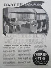 12/46 PUB DUNLOP HOSE ASSEMBLY / CHRISTIE TYLER INTERIOR HERMES AIRLINER AD
