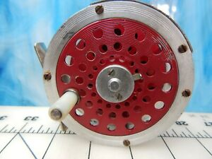 Vintage Fly Reel CORTLAND USA  Red  floating line fishing lure trout .