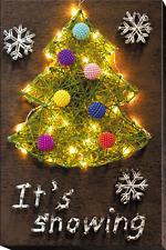 "String Art Creative DIY Kit ""Christmas Tree"" 7.5""х11.4"""
