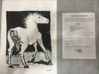 Picasso Pablo serie Buffon con certificato notarile di autenticita'  TREC-Spadem
