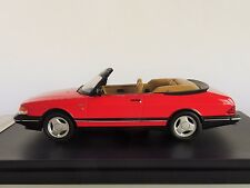 SAAB 900 Turbo Cabriolet 1991 Red 1/43 Premium X PRD 377