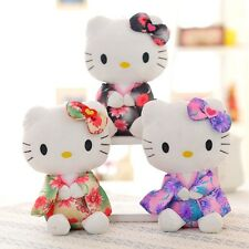 "3pcs Hello Kitty Cute Plush Dolls 8"" Soft Stuffed Kimono Toy Kids Xmas Gift"