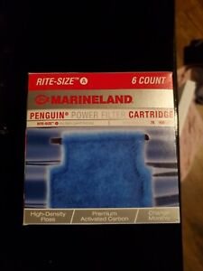 6 Marineland Penguin Power Filter Cartridge Rite-Size A fits biowheel mini more