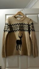Next Wool And Mohair Blend Christmas Jumper Size 14