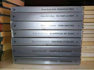 lotto fantascienza - 7x Urania Argento 1 2 4 5 6 7 8