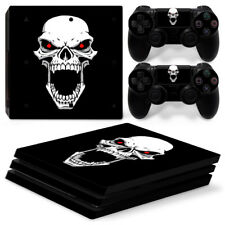 PS4 Pro Protective Skin Stickers Console & 2 contrôleurs - 0878-Crâne