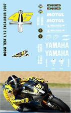 1/12 VALENTINO ROSSI YAMAHA M1 TEST BIKE 1/12 2007 DECALS TB DECAL TBD6