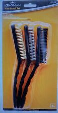 Kingman Wire Brush 3PC Set