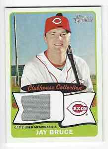 2014 Topps Heritage Clubhouse Collection Relics JAY BRUCE #CCRJBR Cinc Reds