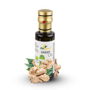 Certificato Organico Radice di Zenzero Olio Infuso 100ml Biopurus