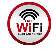 Free Wifi Here Sticker Decal Graphic Vinyl Label V2