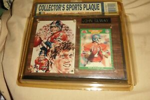 JOHN ELWAY Collector's Sports Plaque DENVER BRONCOS FOOTBALL NFL Card & Picture