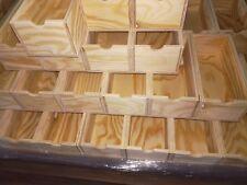 NEUF boîtes en bois caisse tiroirs de rangement ca.25x12x9cm.laden Boîte à