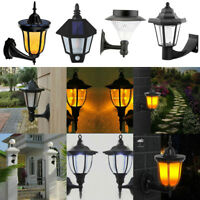 Outdoor Solar LED Wall Light Lamp Lantern Sconce Exterior Porch Lighting Fixture