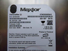 320 GB Maxtor stm3320820as/9dp13g-326/3.aae/TK-HARD DISK/DISCOTECA RIGIDO