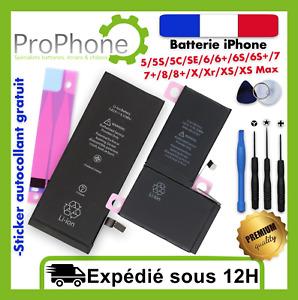 Batterie interne iPhone 5/5S/5C/SE/6/6+/6S/6S+/7/8/8/X/Xr/XS/XS Max / Plus ✅⭐