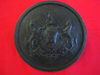 "Cast Bronze  ""Virtue, Liberty, and Independence"", 8"", Commemorative Plaque"