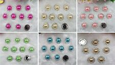 DIY Round Diamante Rhinestone Crystal Pearl Cluster Scrapbooking Craft U pick