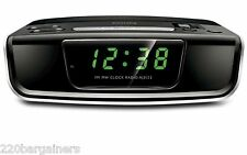 Philips 220v NEW Alarm Clock Radio 220 Volt European Power Cord Round Pin Plug
