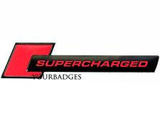 Brushed Aluminium Black SUPERCHARGED Car Badge S4 S5 RS4 RS6 Audi