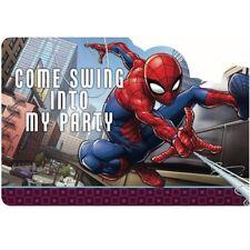 SPIDER-MAN Webbed Wonder INVITATION SET (8) ~ Birthday Party Supplies Stickers