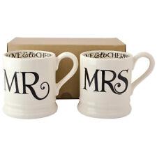 Emma Bridgewater Black Toast Mr & Mrs 2 x Half Pint Mugs