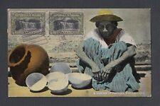 PANAMA 1920s POTTERY SELLER POSTCARD TO FRANCE