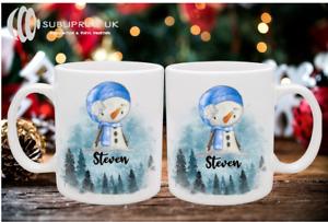 Christmas Snow-man / Snow-woman Personalised Mug