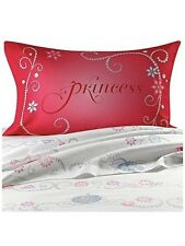 "Disney Princess ""Tiara"" Full size Sheet + pillows Set 4 pieces"