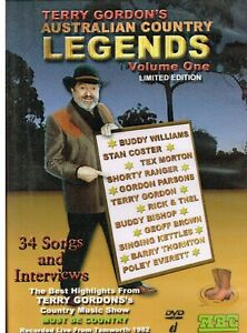 """""""TERRY GORDON'S AUSTRALIAN COUNTRY LEGENDS Volume 1 LIMITED EDITION"""" New DVD R4"""