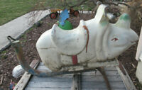 Vintage Gametime Rhino Rhinoceros Aluminum Ride On Playground Swing Spring