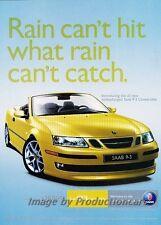 2004 SAAB 9-3 93 Turbo Convertible Original Advertisement Print Art Car Ad J790